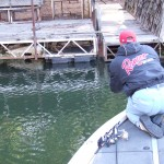 Shooting jigs under docks for crappie