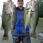 Four bass from Lake Guntersville