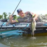 Casey Martin lands a nice bass on the umbrella rig