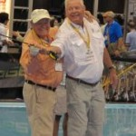 Lefty Kreh at ICast.  J.R. Absher photo.
