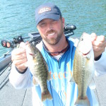 Josh Fowler with Hartwell largemouth and redeye bass