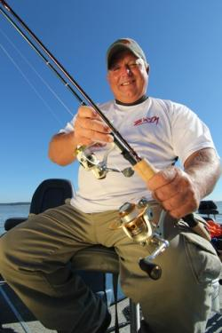 Rod and reel for casting for crappie