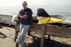 Jon Hare with a video plankton recorder-