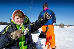 Kids love ice fishing