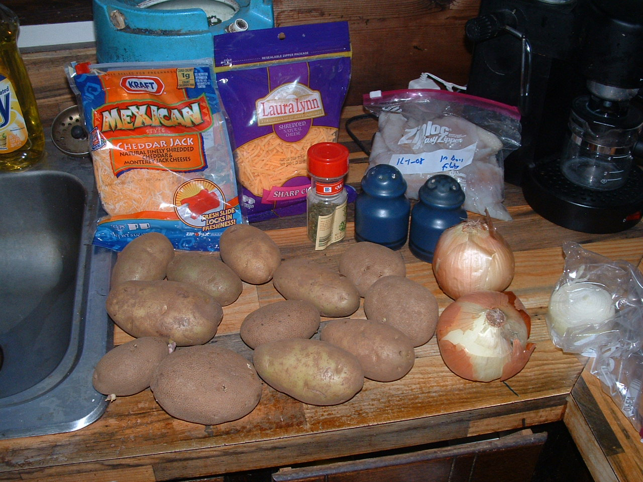 Ingredients needed for casserole