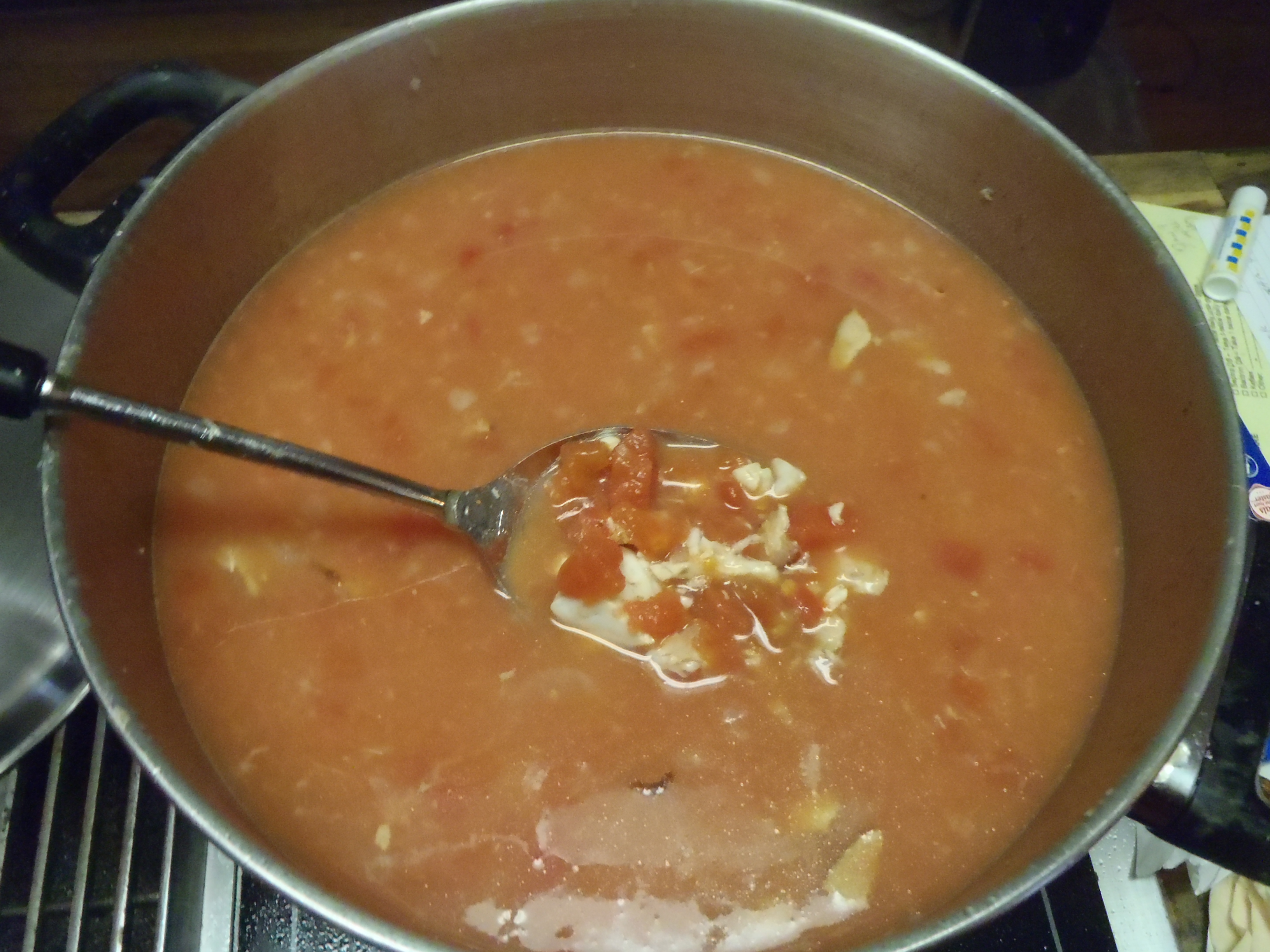 Simmer for about an hour