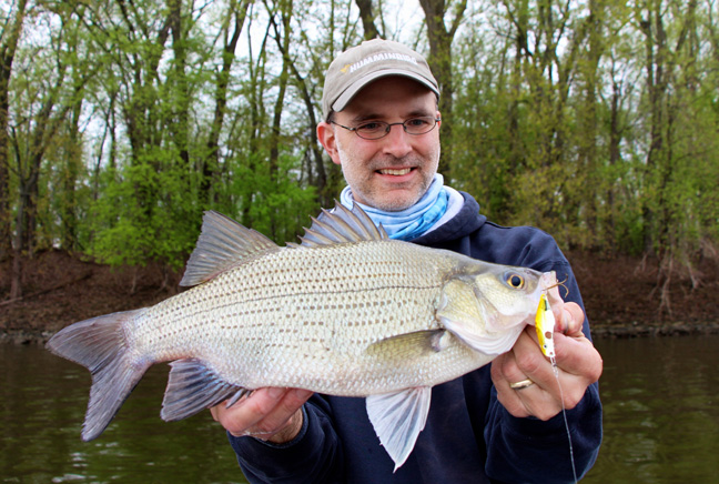 Jason Halfen with White Bass