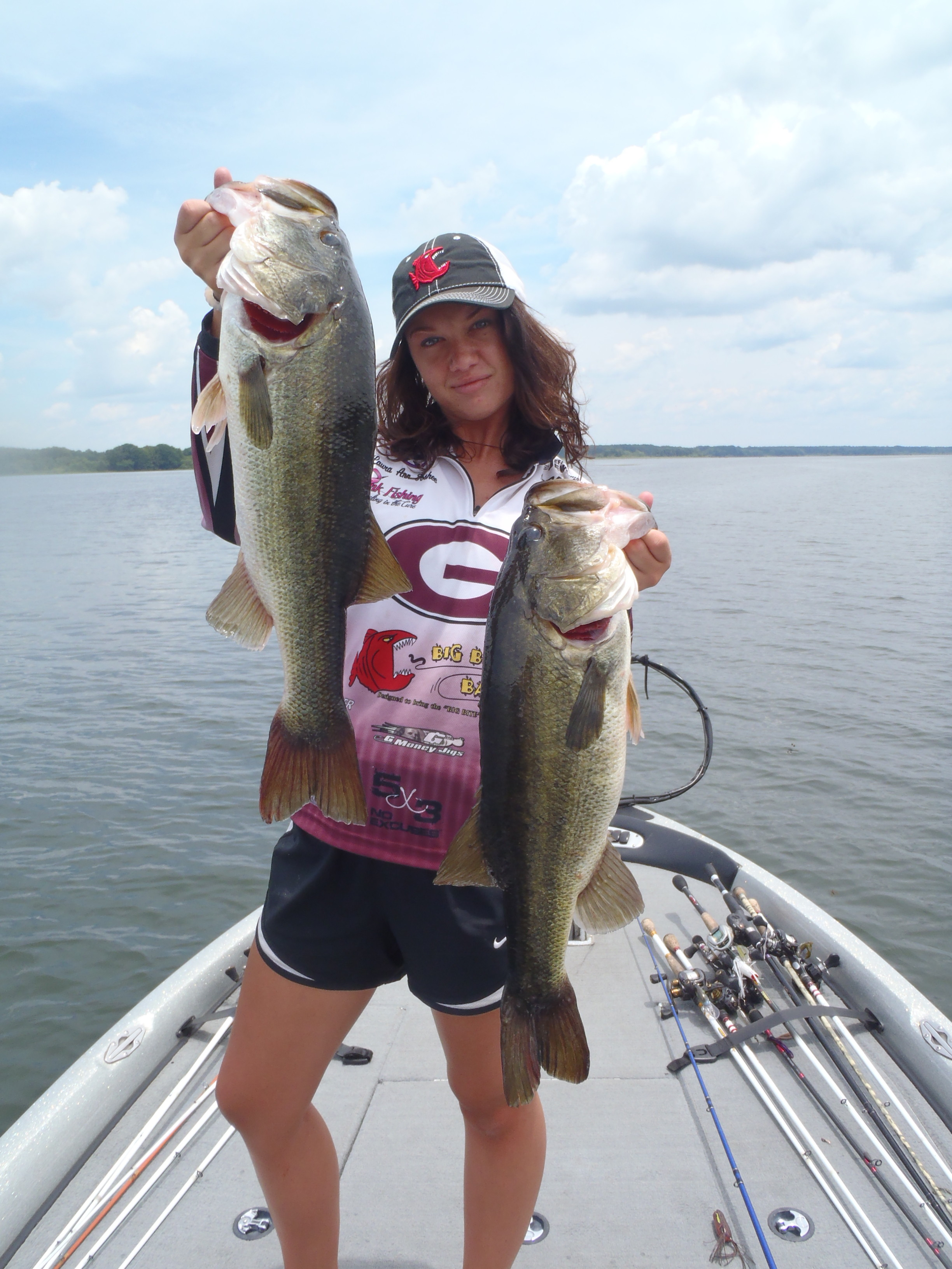 How to fish about fishing part 5 laura ann foshee with two five pound lake seminole bass fandeluxe Choice Image
