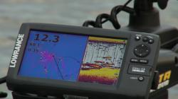 Find crappie on depthfinder