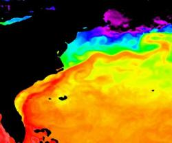 Gulf Stream hugging the Southeast coast